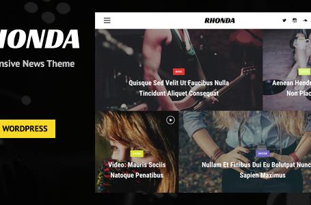 Rhonda – Responsive WordPress News Theme