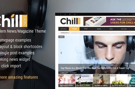Chill News – A Modern News/Magazine Theme