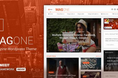 MagOne – Newspaper & Magazine WordPress Theme