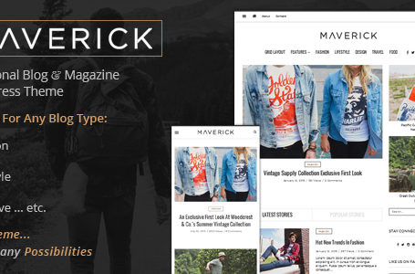 Maverick – Multipurpose WordPress Blog Magazine