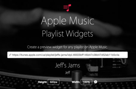 How-To: Create an Apple Music playlist preview widget
