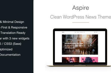 Aspire – News & Magazine Clean WordPress Theme