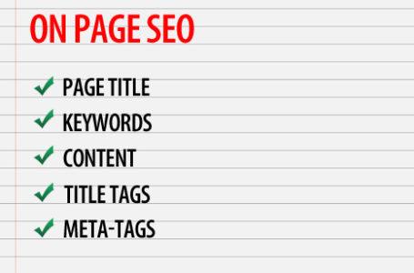 Do basic on-page optimization